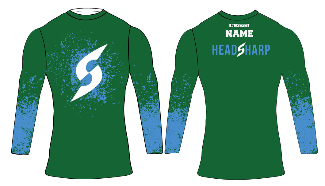 Headsharp Compression Shirt - Green - 5KounT