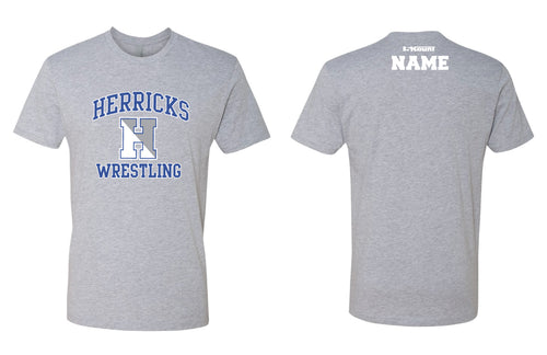 Herricks Cheer Cotton Crew Tee - Heather Grey