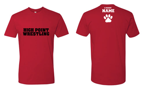 High Point HS wrestling Cotton Crew Tee - Cardinal