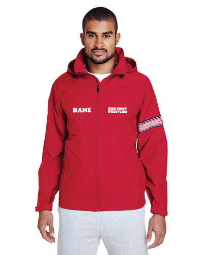 High Point HS wrestling All Season Hooded Jacket - Red