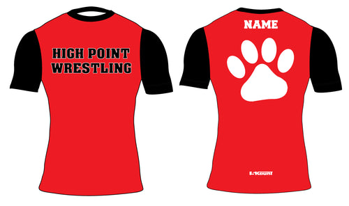 High Point HS wrestling Sublimated Compression Shirt
