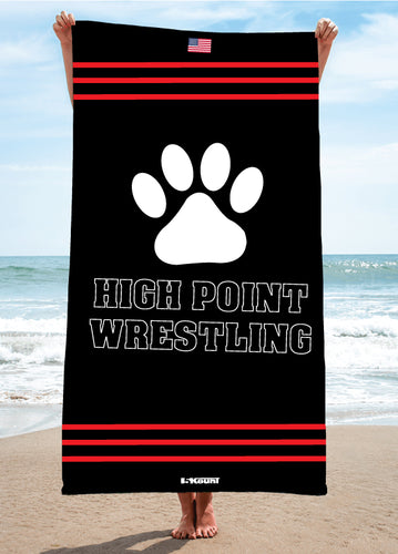 High Point HS wrestling Sublimated Beach Towel