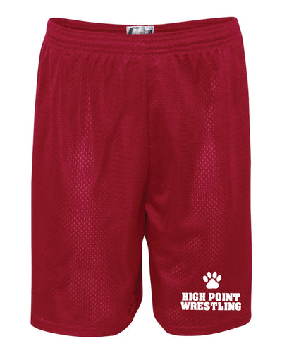 High Point HS wrestling Tech Shorts - Red