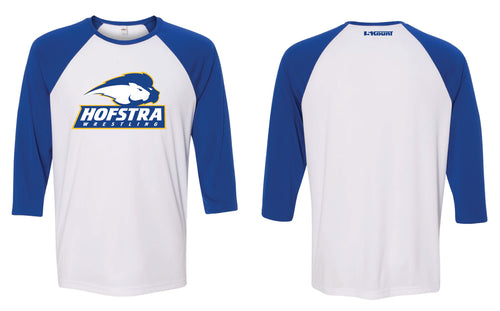 Hofstra Wrestling Baseball Shirt - Royal / White - 5KounT2018