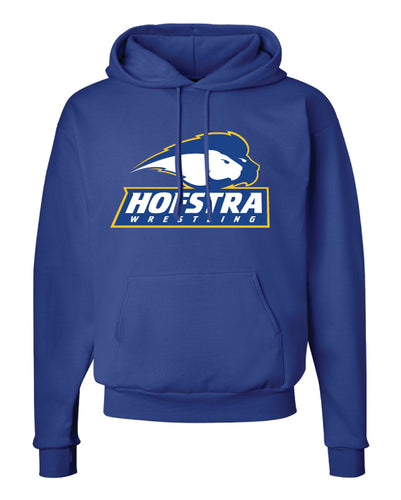 Hofstra Wrestling Cotton Hoodie - Royal - 5KounT2018