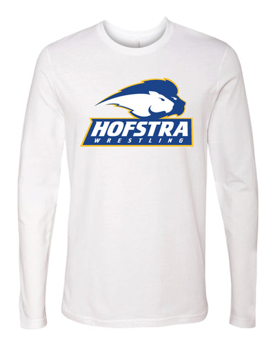Hofstra Wrestling Long Sleeve Cotton Crew - White - 5KounT2018