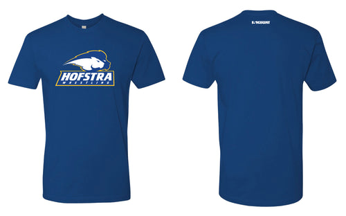 Hofstra Wrestling Cotton Crew Tee - Royal - 5KounT2018