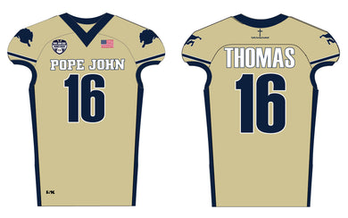 Pope John Homecoming Football Sublimated Football Jersey