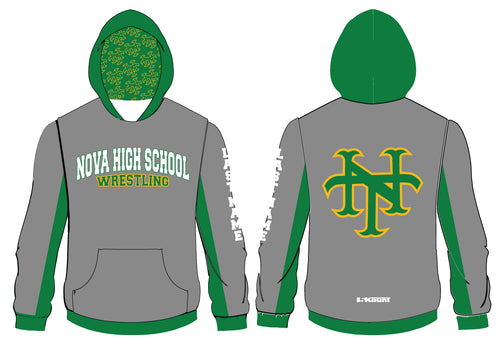 NHS Titans Wrestling Sublimated Hoodie Gray - 5KounT2018