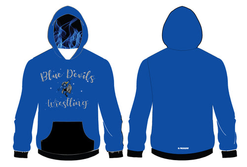Blue Devils Wrestling Sublimated Women's Hoodie
