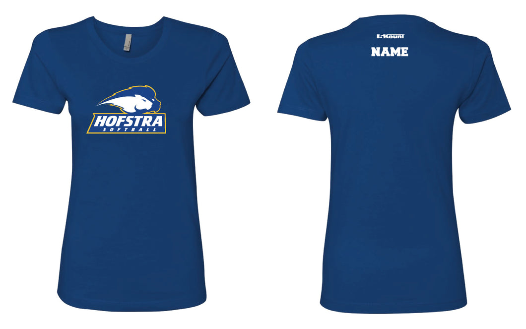 Hofstra Softball Ladies' Cotton Crew Tee - Royal - 5KounT2018