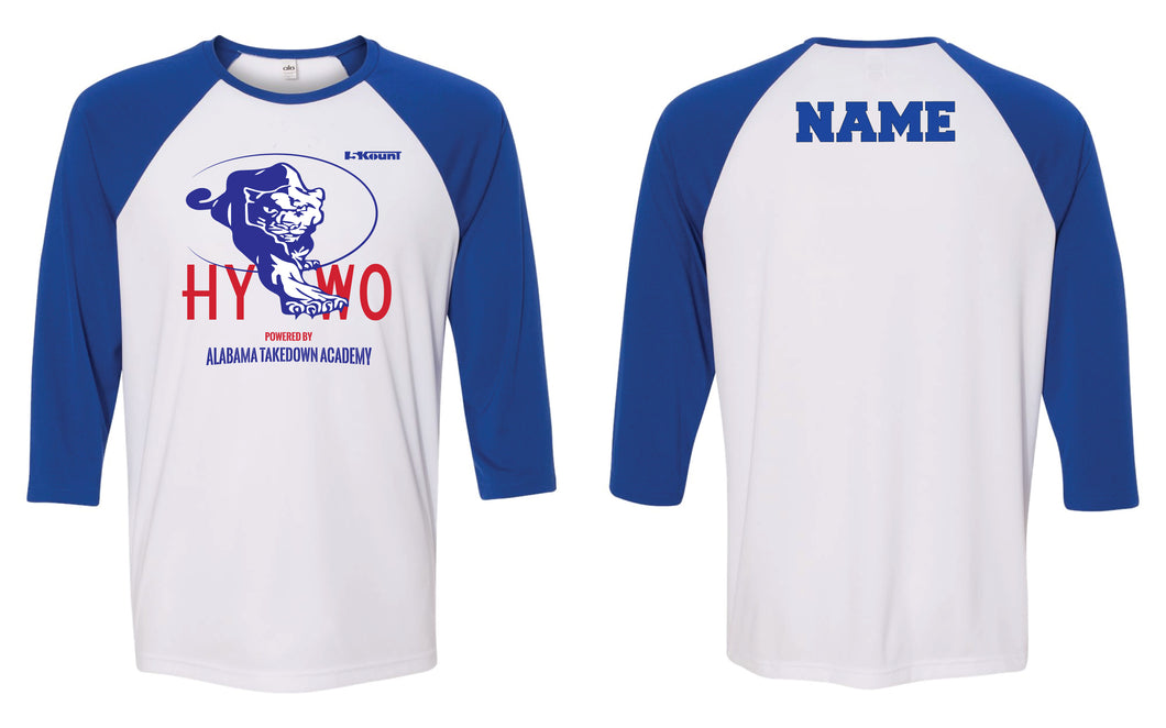 Huntsville Youth Wrestling Baseball Shirt - Blue