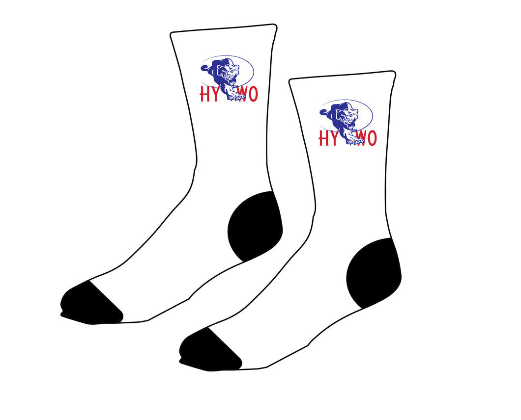 Huntsville Youth Wrestling Sublimated Socks - White