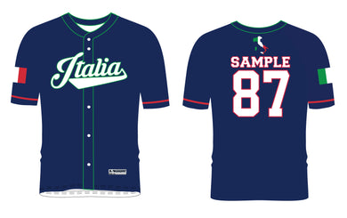 Italia Baseball Sublimated Fan Jersey - 5KounT2018