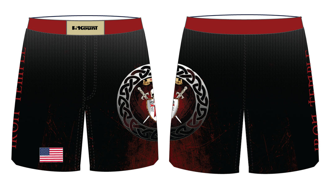 Iron Temple Wrestling Sublimated Fight Shorts - 5KounT2018