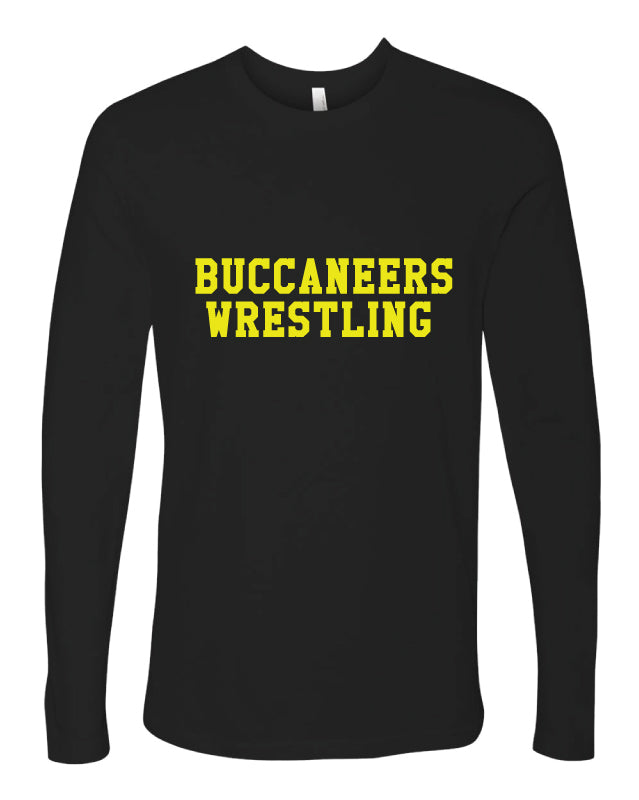 Jack Britt High School Wrestling Cotton Long Sleeve - Black