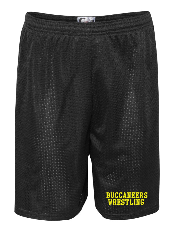 Jack Britt High School Wrestling Tech Shorts - Black