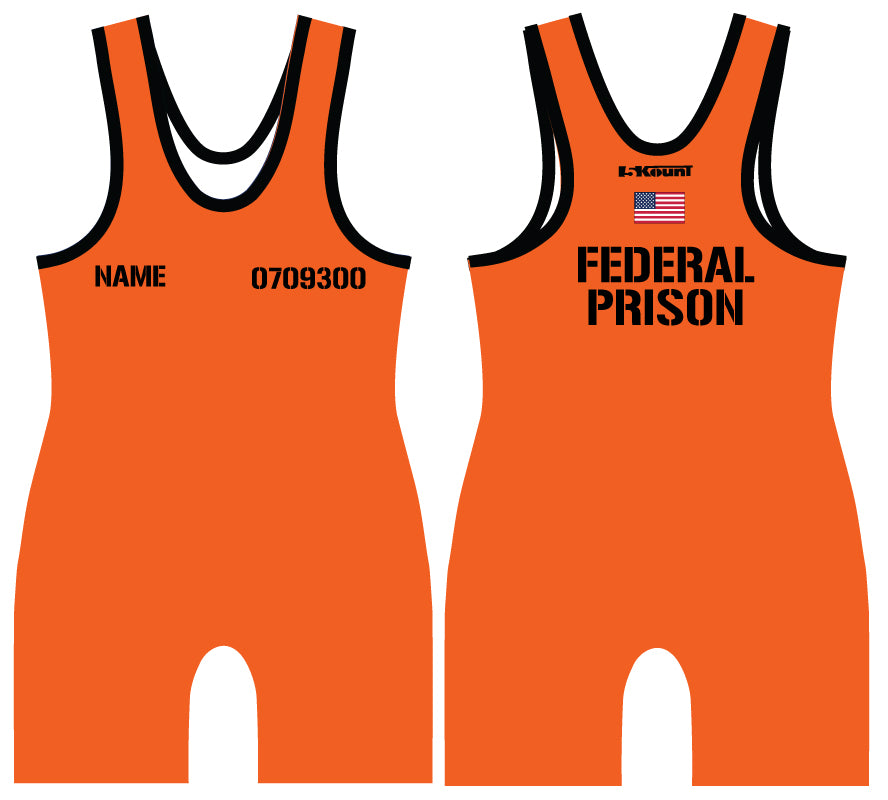 Jail Jumpsuit Sublimated Singlet