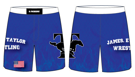 James E. Taylor Sublimated Fight Shorts - 5KounT2018