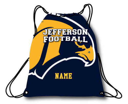 Jefferson Football Drawstring Bag