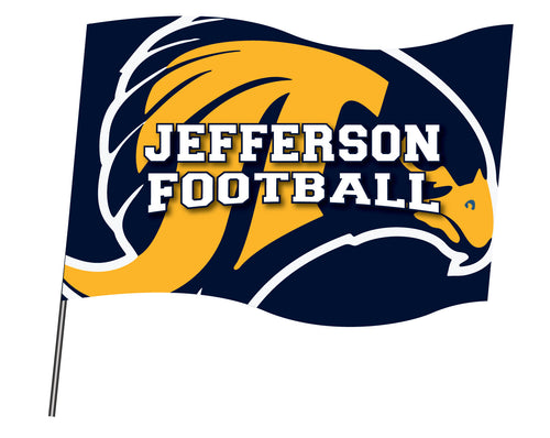 Jefferson Football Sublimated Flag