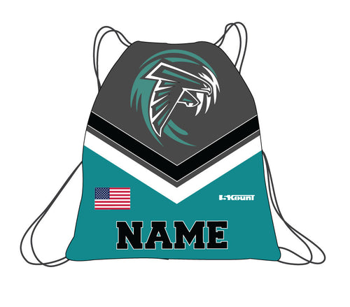 Jensen Beach Falcons Football Sublimated Drawstring Bag
