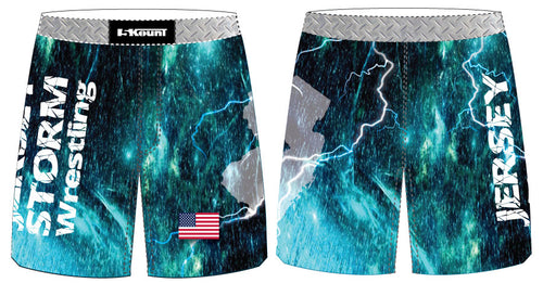 Jersey Storm Wrestling Sublimated Fight Shorts - 5KounT2018
