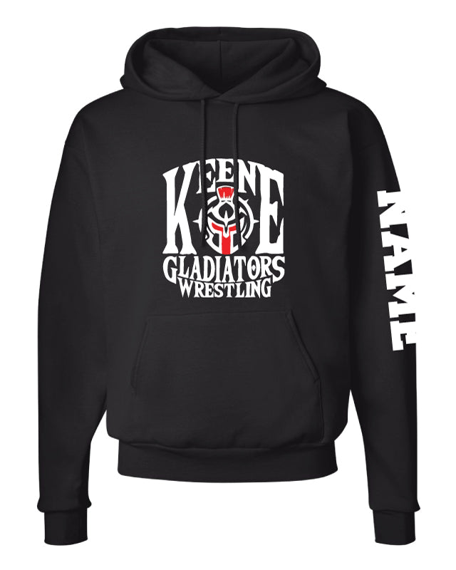 Keene Gladiators Wrestling Cotton Hoodie - Black - 5KounT2018