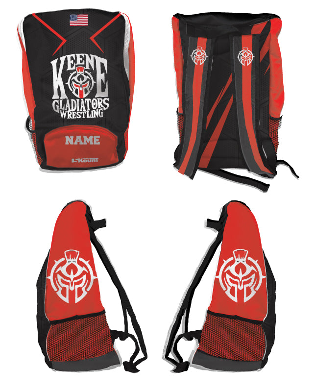 Keene Gladiators Wrestling Sublimated Backpack