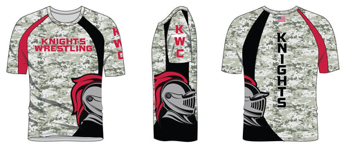 Union Knights Wrestling Sublimated Camo Shirt - 5KounT2018