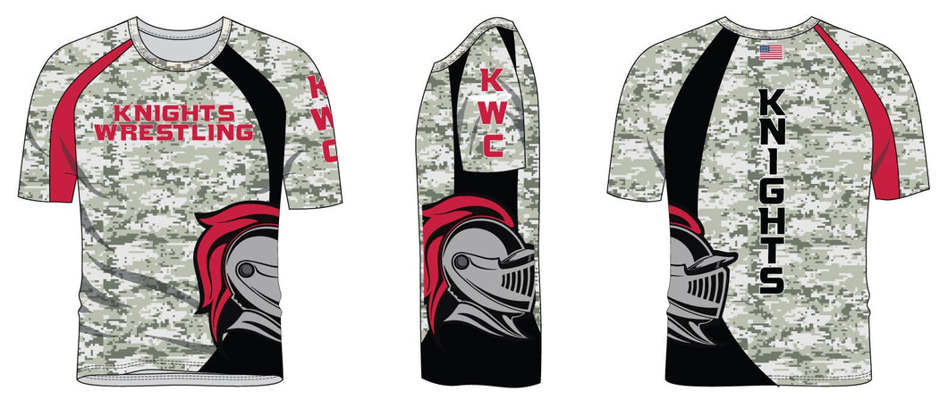 Union Knights Wrestling Sublimated Camo Shirt
