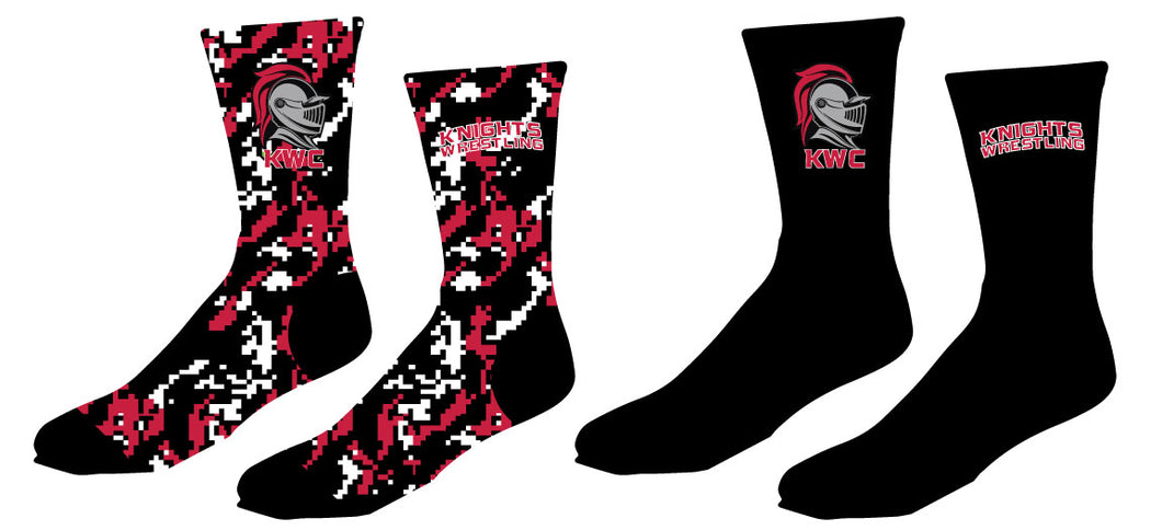 Union Knights Wrestling Sublimated Crew Socks - 5KounT2018