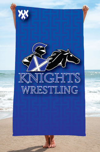 Knights Sublimated Beach Towel