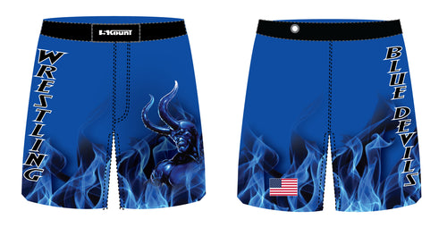 Lawton Wrestling Sublimated Fight Shorts - 5KounT2018