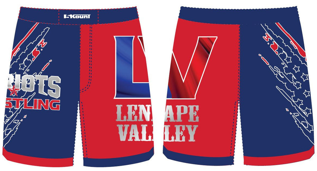 LV Wrestling Sublimated Fight Shorts
