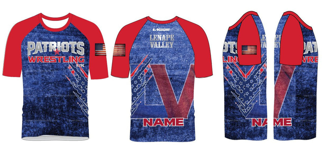 LV Wrestling Sublimated Fight Shirt - 5KounT