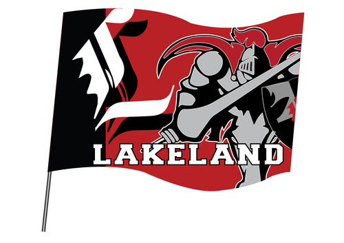 Lakeland Jr. Sublimated Flag - 5KounT2018