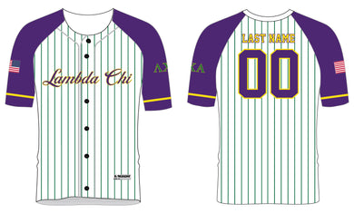 Lambda Chi Alpha Baseball Sublimated Full Button Jersey