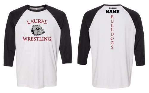 Laurel Bulldogs Baseball Shirt - Black/White
