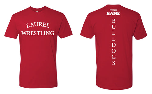 Laurel Bulldogs Cotton Crew Tee - Red