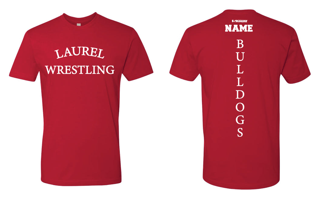 Laurel Bulldogs Cotton Crew Tee - Red - 5KounT