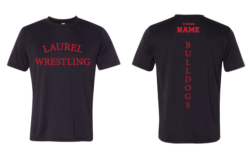 Laurel Bulldogs DryFit Performance Tee - Black