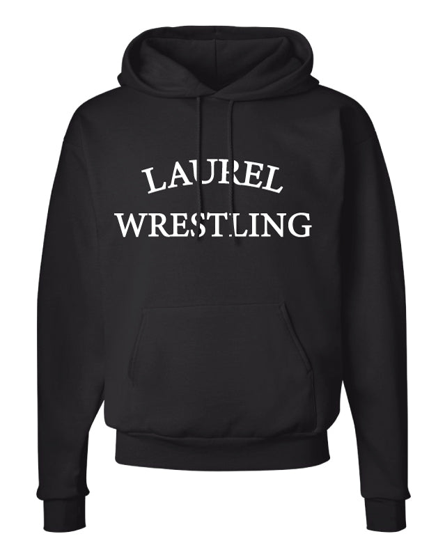 Laurel Bulldogs Cotton Hoodie - Black - 5KounT
