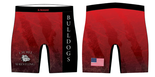 Laurel Bulldogs Sublimated Compression Shorts - 5KounT2018