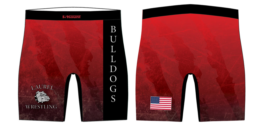 Laurel Bulldogs Sublimated Compression Shorts