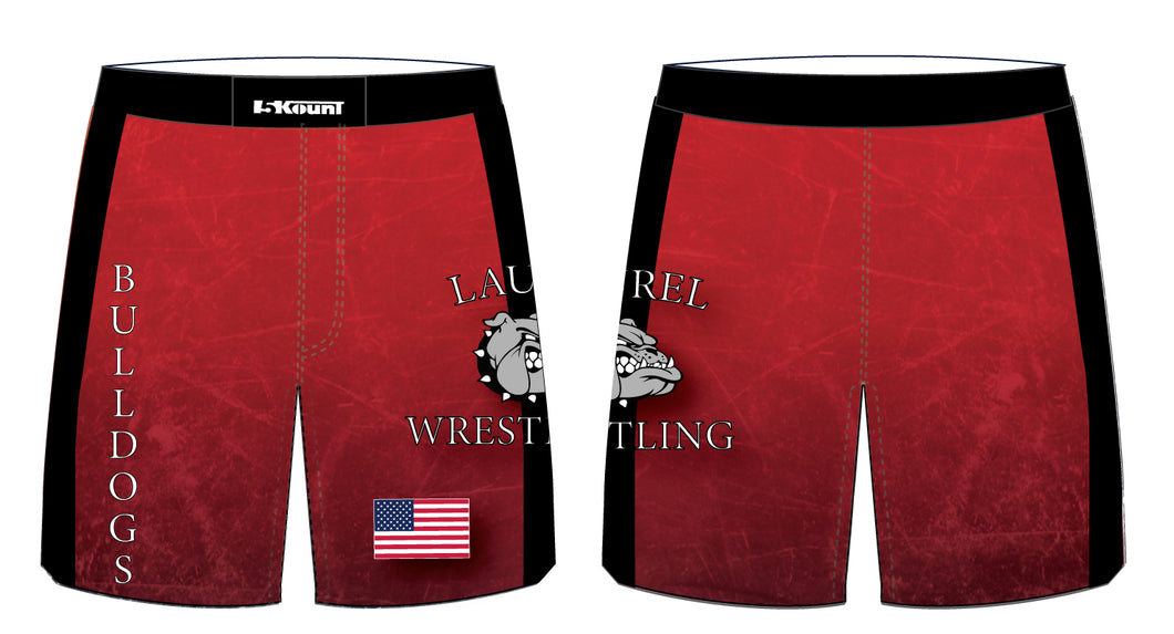 Laurel Bulldogs Sublimated Fight Shorts - 5KounT