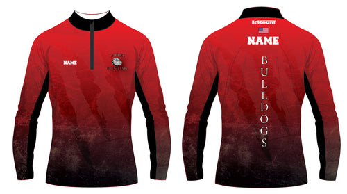 Laurel Bulldogs Sublimated Quarter Zip