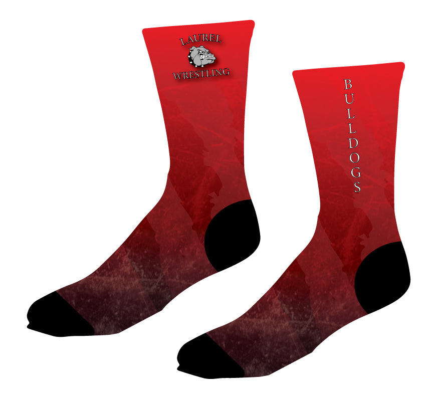 Laurel Bulldogs Sublimated Socks - 5KounT
