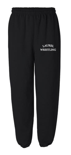 Laurel Bulldogs Cotton Sweatpants - Black