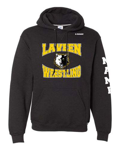 Laveen Wrestling Russell Athletic Cotton Hoodie - Black